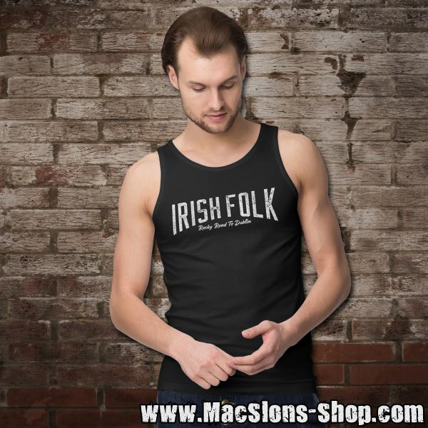 "Irish Folk ""Rocky Road To Dublin"" Tank-Top (black)"