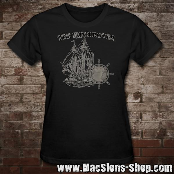 "MacSlon's ""Irish Rover"" Girly-Shirt (black)"