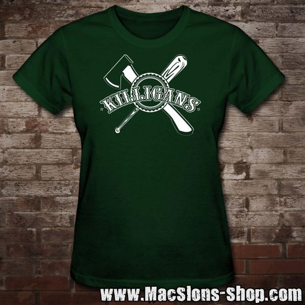 "Killigans ""Bat & Axe"" Girly-Shirt (green)"
