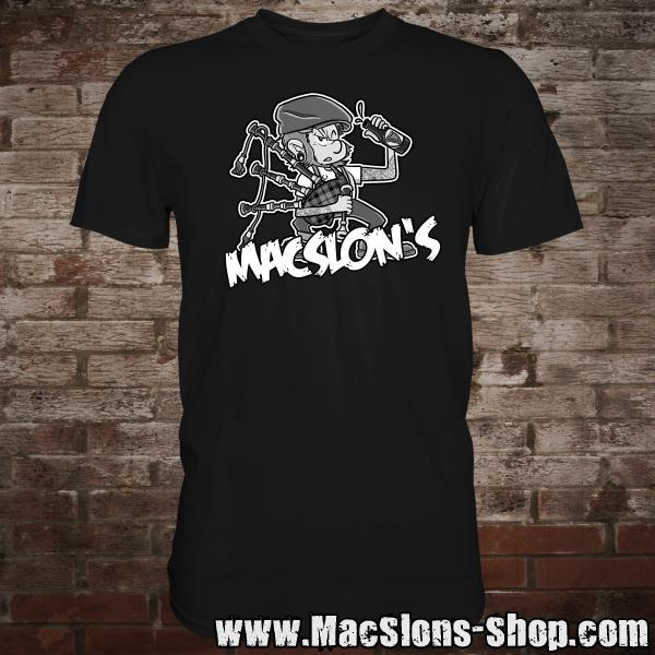 "MacSlon's ""Piper"" T-Shirt (black)"