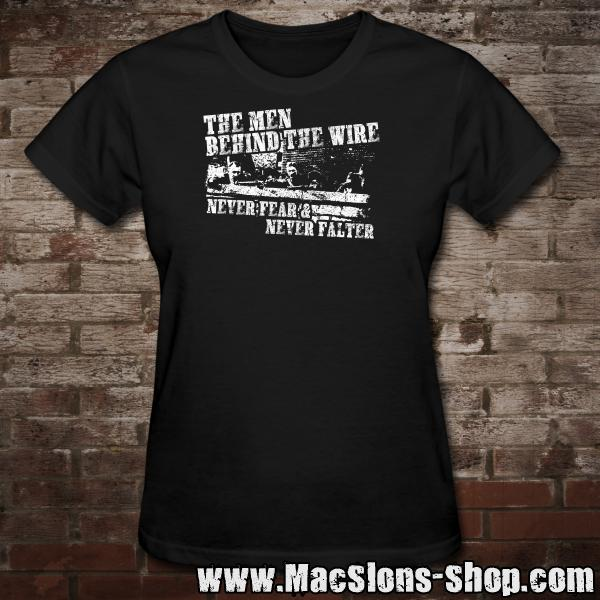 """The Men Behind The Wire"" Girly-Shirt (black)"