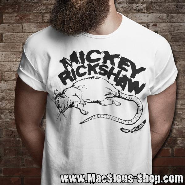 "Mickey Rickshaw ""Rat"" T-Shirt (white/black)"