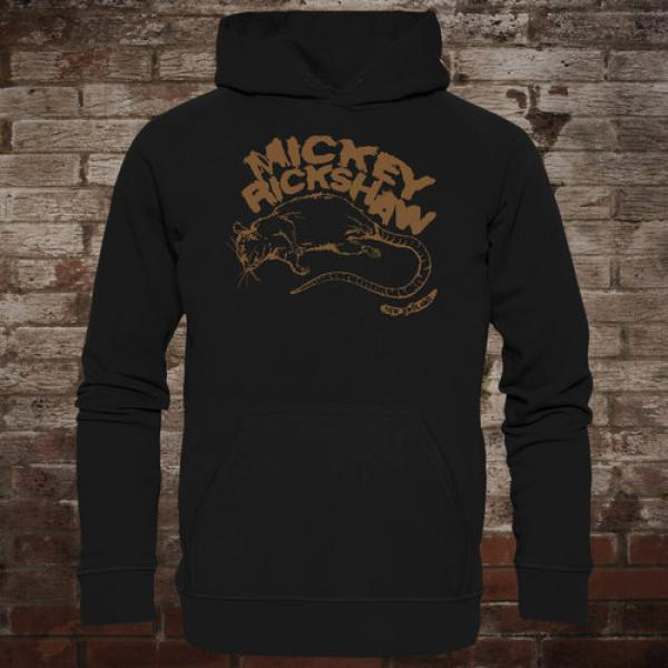 "Mickey Rickshaw ""Rat"" Hoodie (black/brown)"