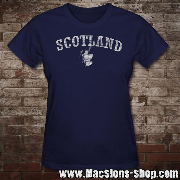 "Scotland ""Landscape"" Girly-Shirt (navy)"
