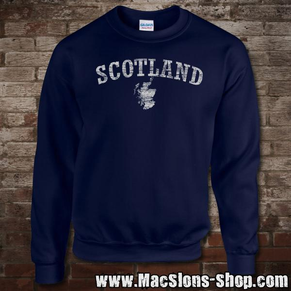 "Scotland ""Landscape"" Sweatshirt (navy/grey)"