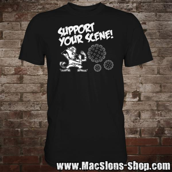 """Support Your Scene"" T-Shirt (black)"