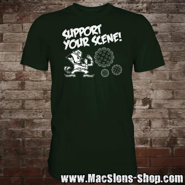 """Support Your Scene"" T-Shirt (green)"
