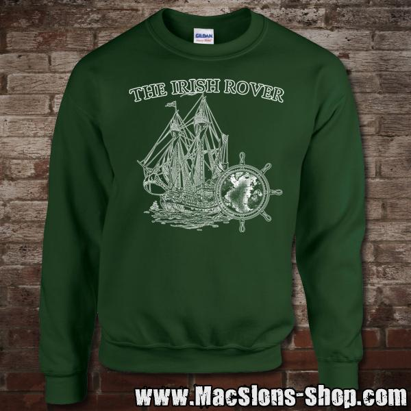 "MacSlon's ""Irish Rover"" Sweatshirt (green/white)"