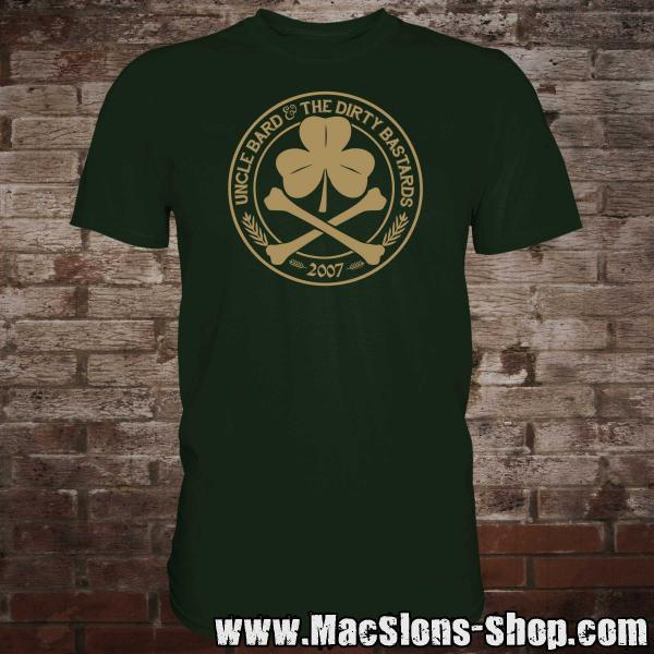 "Uncle Bard & the Dirty Bastards ""Circle Logo"" T-Shirt (green)"