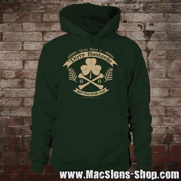 "Uncle Bard & the Dirty Bastards ""Get The Folk Out"" Hoodie (green)"