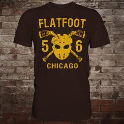 "Flatfoot 56 ""Hockey"" T-Shirt (brown/yellow)"