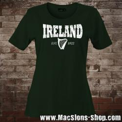 "Ireland ""Harp 1922"" Girly-Shirt (green)"
